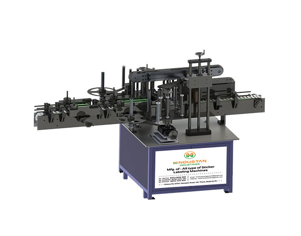 flat bottle sticker labeling machine-Hindustan Industries